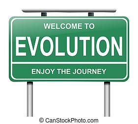 évolution, concept.