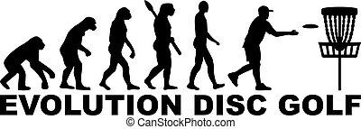 évolution, disque, golf