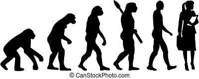 évolution, femme, avocat
