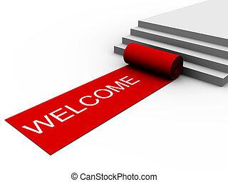 éxito, bienvenida