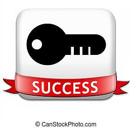 éxito, botón
