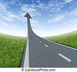éxito, carretera