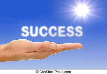 éxito, concepto