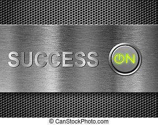 éxito, en, concepto