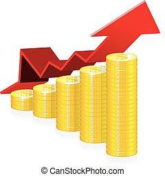 éxito financiero, concepto