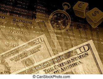 éxito financiero, plano de fondo