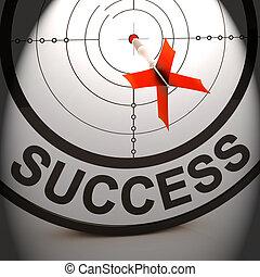 éxito financiero, solución, logro, mejor, exposiciones