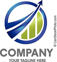 éxito, logotipo, empresa / negocio