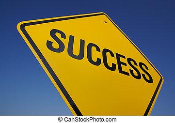 éxito, muestra del camino