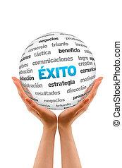 éxito, palabra, esfera, (in, spanish)
