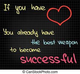 éxito, palabras