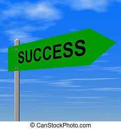 éxito, señal