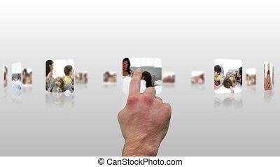 être, écran tactile, utilisé, montre