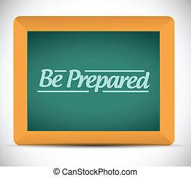 être, écrit, blackboard., message, préparé