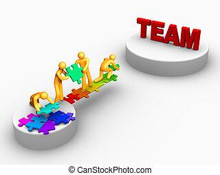 être, équipe