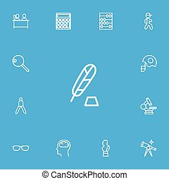 être, 13, ensemble, contour, mobile, icons., boîte, editable, utilisé, inclut, symboles, infographic, ui, toile, loupe, science, tel, more., barre, arithmétique, design.