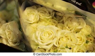 être, aimé, doué, one., prêt, fleurs blanches