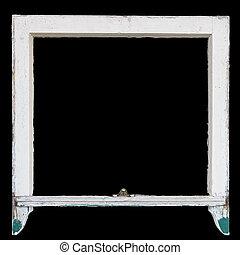 être, boîte, rustique, cadre fenêtre, utilisé, cadre, vendange, photo