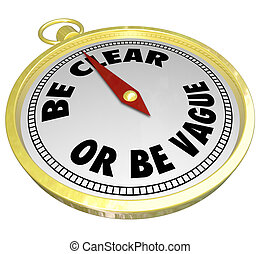 être, commuication, clair, ou, vs, message, clarté, vague, ...
