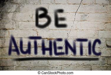 être, concept, authentique