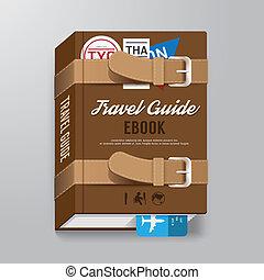 être, concept, bagage, voyage, couverture, /, livre, ...
