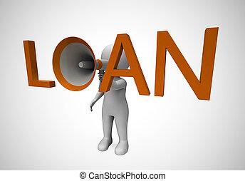être, concept, icône, moyens, argent, prêt, -, illustration, ou, crédit, dette, emprunt, 3d
