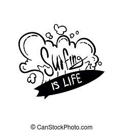 être, conception, logo, gabarit, magasin, aviateur, dessiné, blanc, ressac, écusson, vie, utilisé, affiche, motivation, club, citation, main, étiquette, illustration, fond, impression, emblème, élément, vecteur, boîte, vêtements