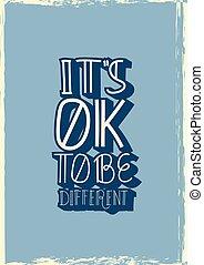 être, différent, ok, c'est, quote., vecteur
