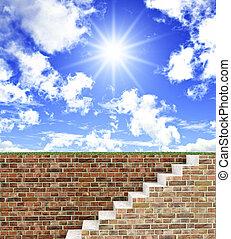 être, escalier, gratuite