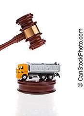 être, forclusion, vente, volonté, auctioned., camion
