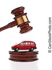 être, forclusion, voiture, vente, auctioned., volonté