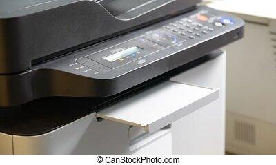 être, imprimante, feuille, papier, imprimé