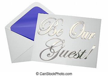 être, invité, illustration, mots, invitation, notre, événement, spécial, 3d