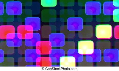 être, mené, projection, mur, modèle, résumé, squares., could...