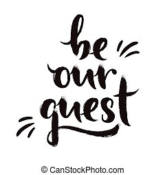 être, notre, invité, conception, calligraphie
