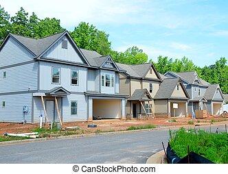 être, nouvelles maisons, constructed