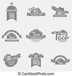 être, ou, gabarit, concepts., boîte, business, taco, posters...
