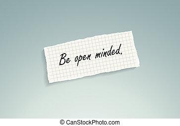 être, ouvrir eu objections
