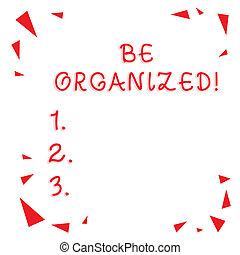 être, photo, rangé, signe, soigneusement, copie, choses, capable, texte, conceptuel, rouges, être, dispersé, projection, space., verre, plan, confetti, morceaux, shrapnel, coins, organized., garder, vide