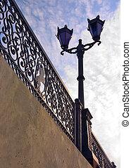 être, pont, unique, midi, lanterne