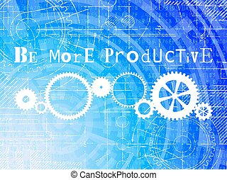 être, productif, technologie de pointe, fond, plus