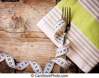 être régime, concept., diet., régime, menu