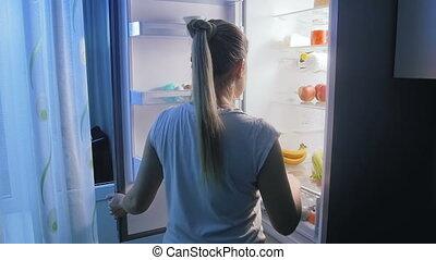 être régime, femme, nutrition, lent, jeune, avoir, tard, ...