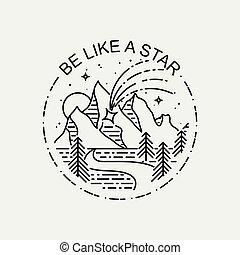 être, star., poster., aimer, montagnes, vendange, moderne, ...