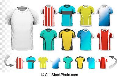 être, utilisé, vector., collection, transparent, t-shirt, ...