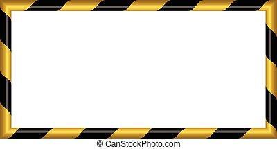 être, vecteur, rectangulaire, diagonal, fond, potentiel, jaune, noir, raies, danger, prudent, avertissement, rayé, 3d