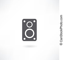 ícone, áudio, orador, vetorial