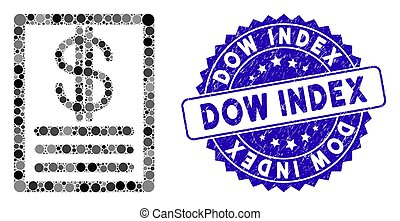 ícone, índice, dow, mosaico, price-list, angústia, selo