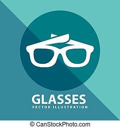 ícone, óculos