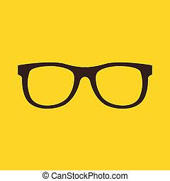ícone, óculos, vetorial